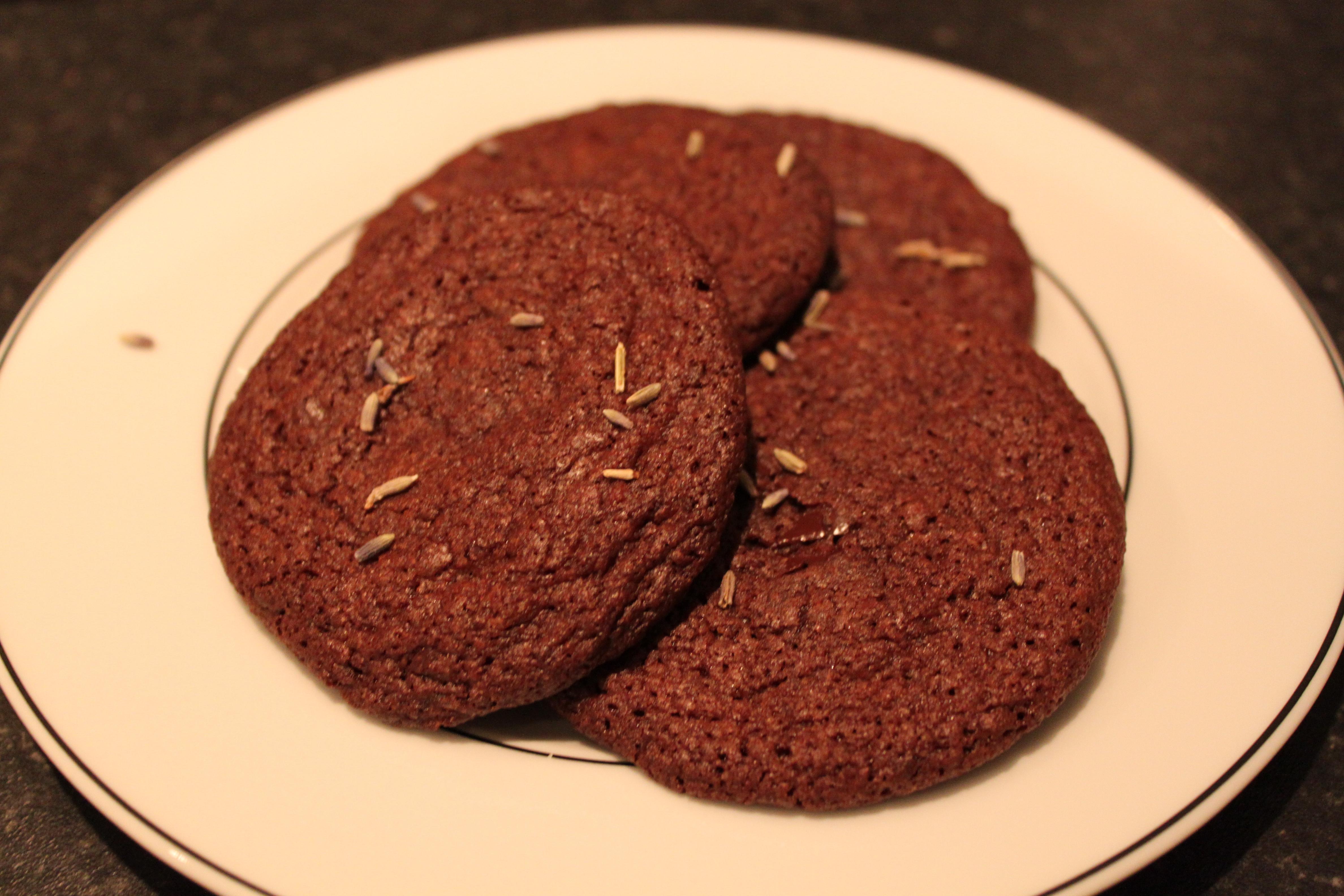 Jennies lavendel chocolate chip cookies   Matarkivet