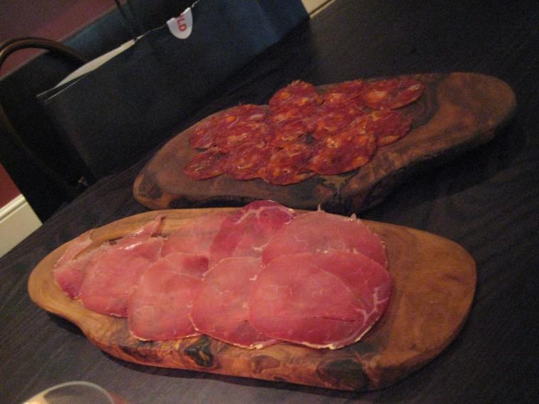 Prosciutto och chroizo