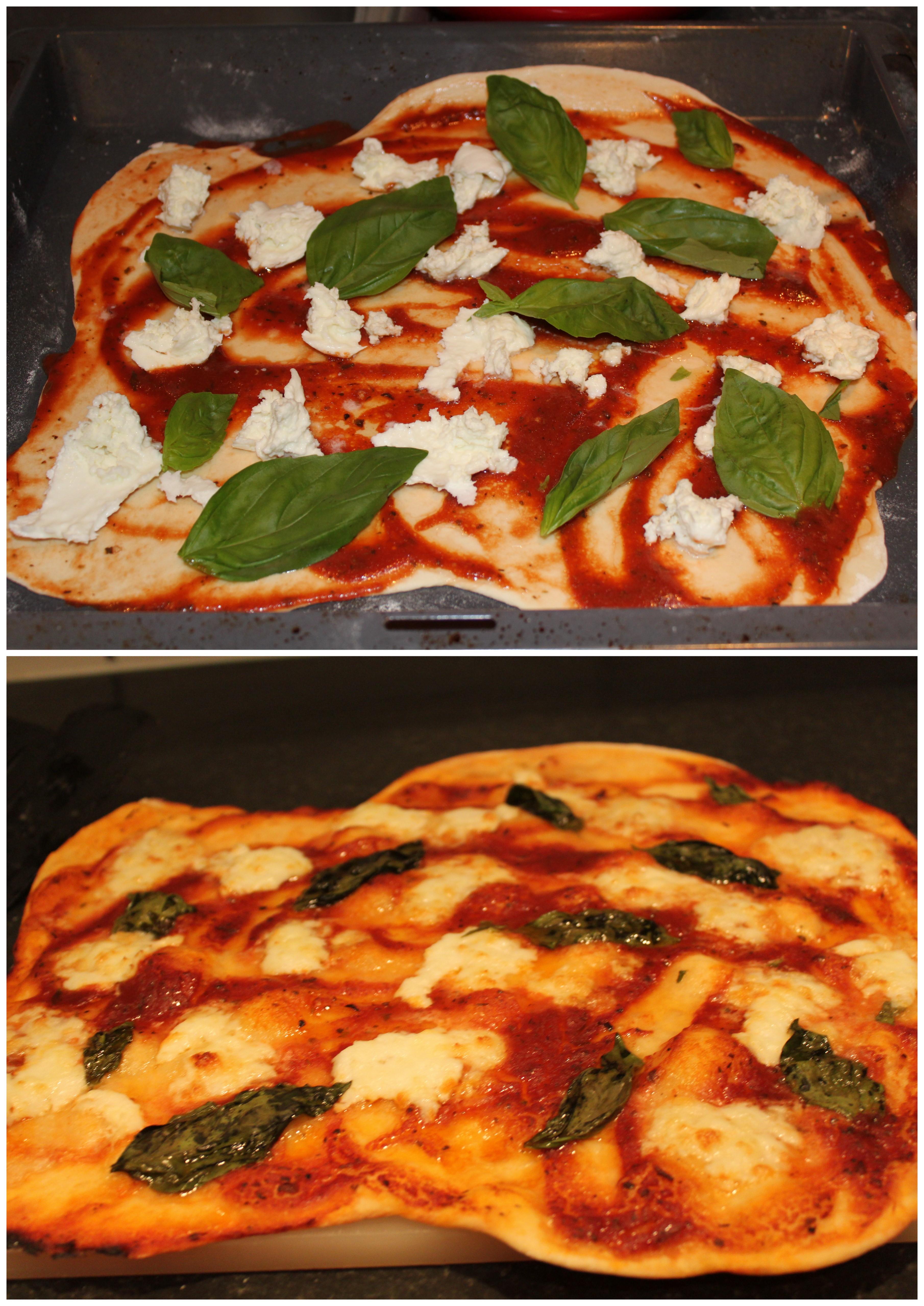 hemmagjord italiensk pizza