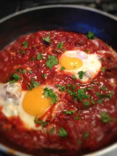 Eggs in tomato sauce – uovo in purgatorio